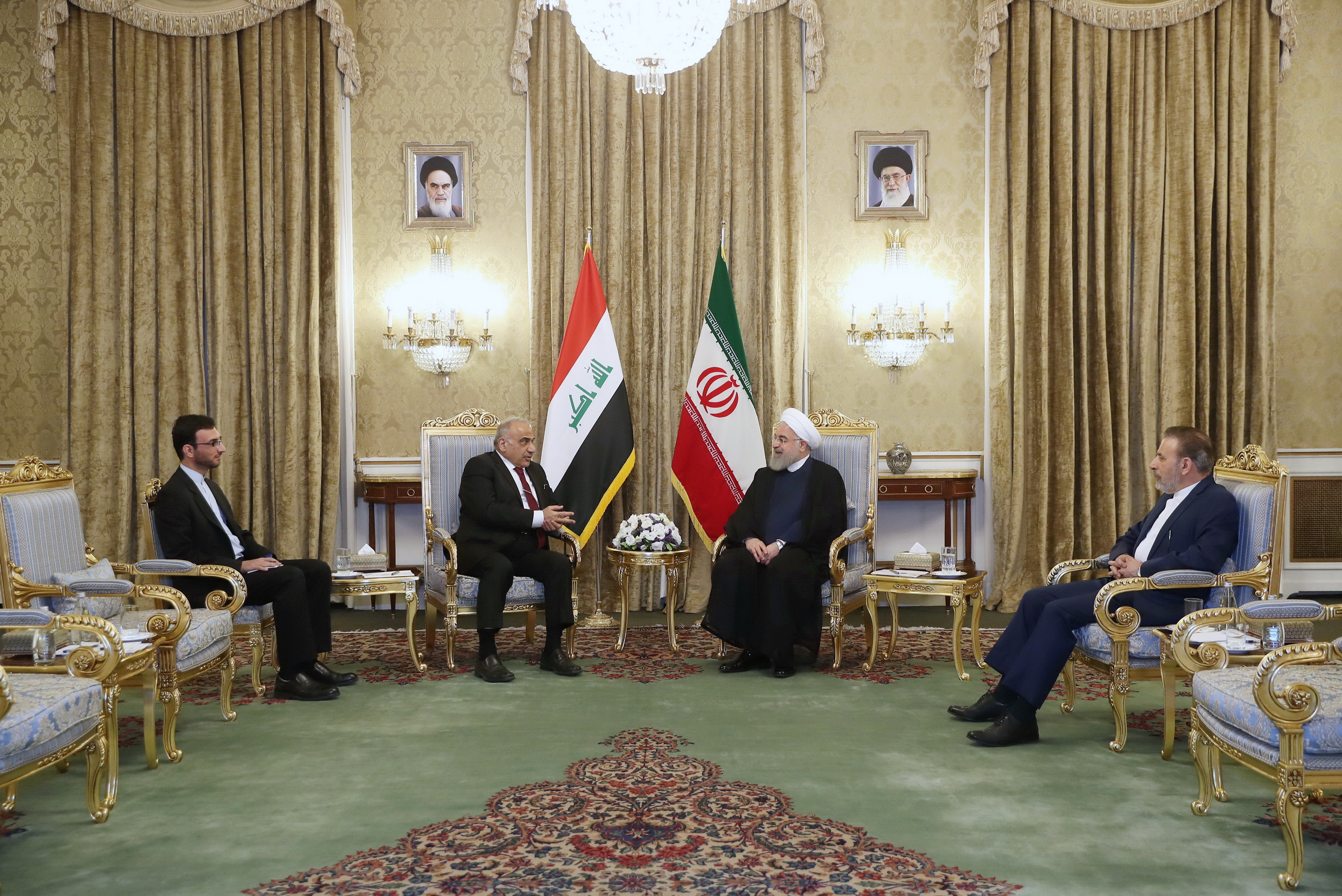 دیدار روحانی با نخست وزیر عراق