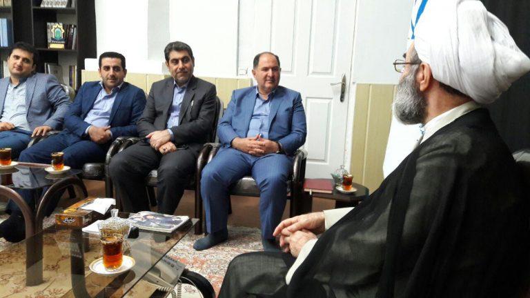 دیدار ایت الله فلاحتی با +فرماندار رشت