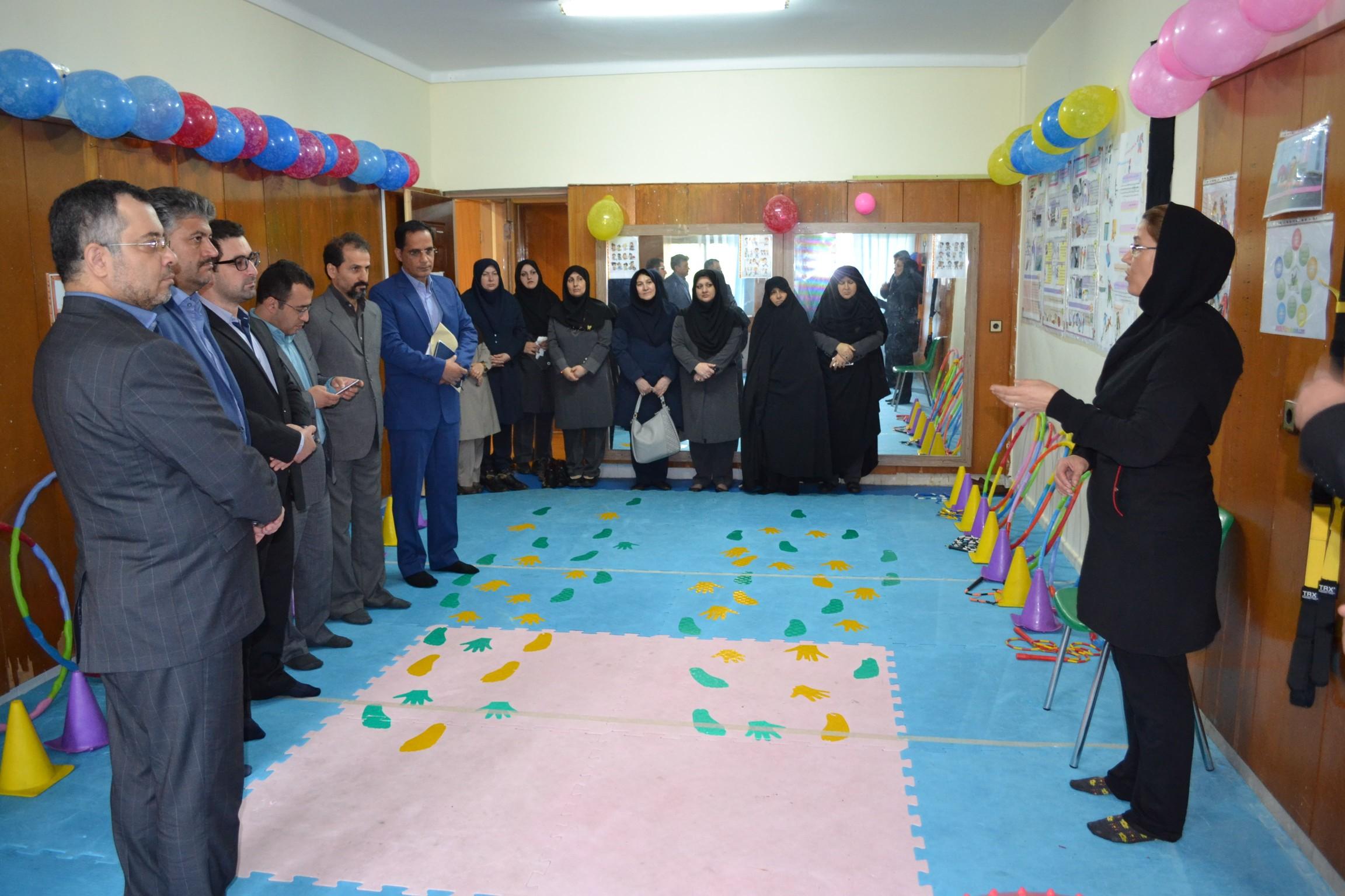 افتتاحیه+ سالن پیلاتس و تی آر ایکس دبستان دخترانه سما واحد رشت