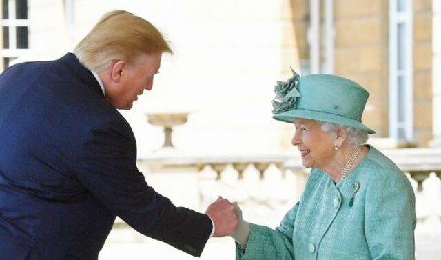 دیدار ترامپ و ملکه انگلیس