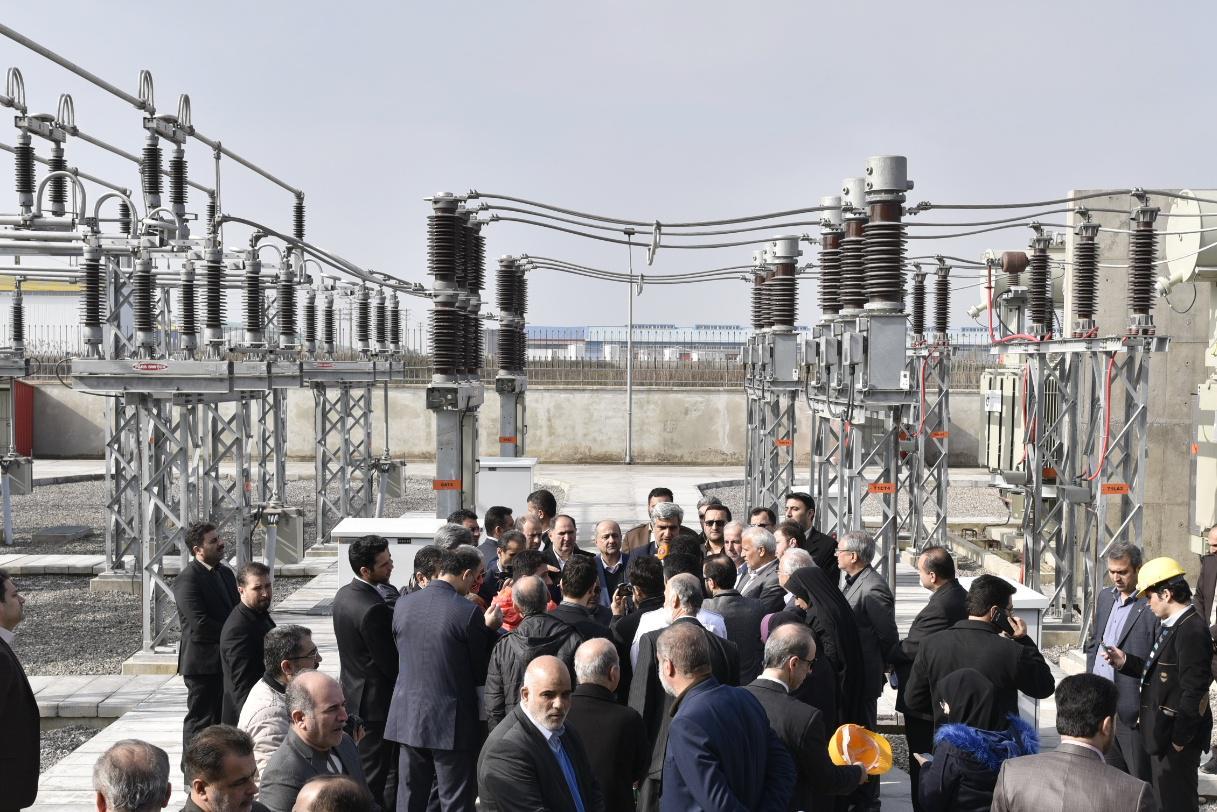 آغاز بهره برداری از پروژه های ملی و زیربنایی برق در رشت 2