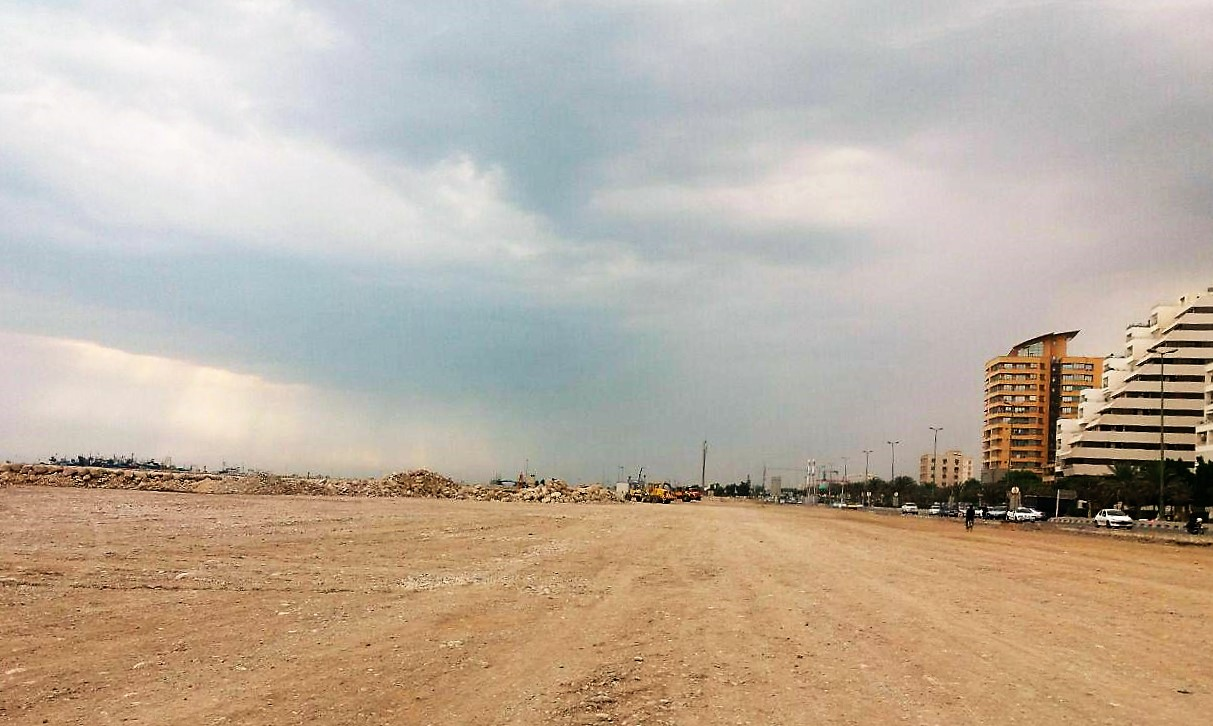 خشک کردن دریا در بندرعباس