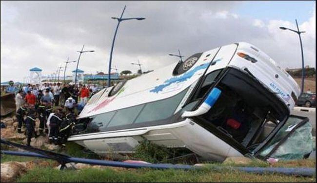 آخرین وضعیت واژگونی اتوبوس مهارلو