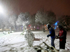 اصفهان- بارش برف