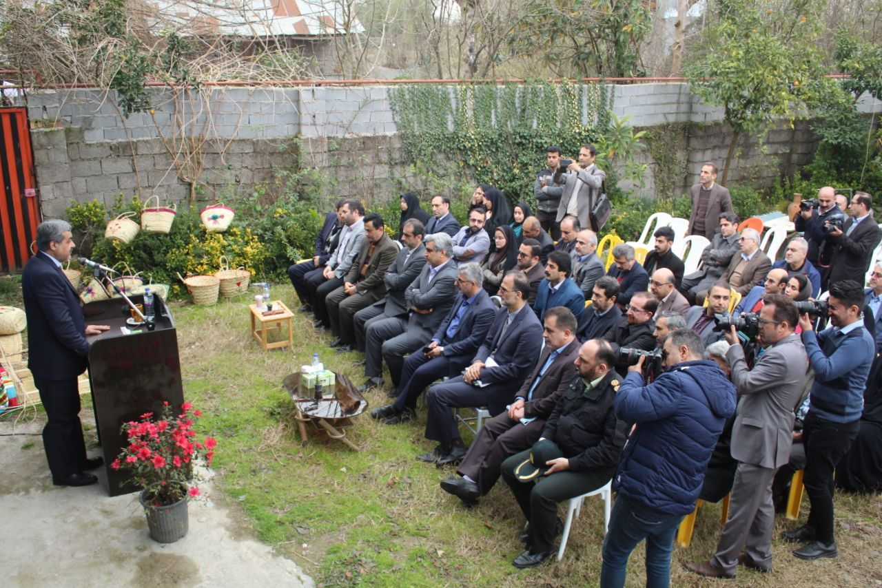 افتتاح پروزه در لاهیجان