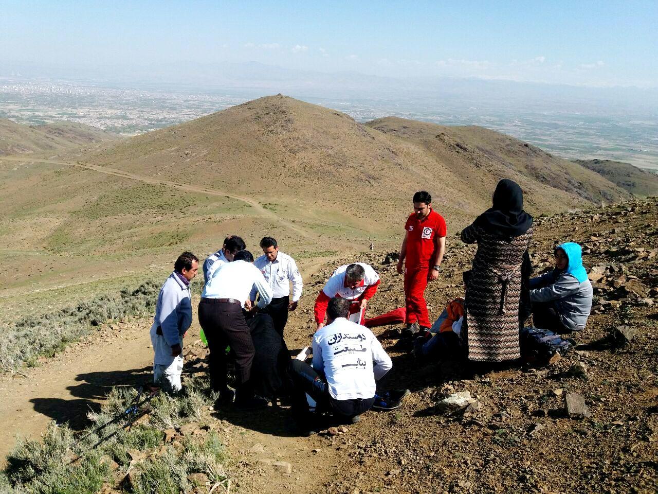 سقوط کوهنورد زن از ارتفاعات شهرستان بناب