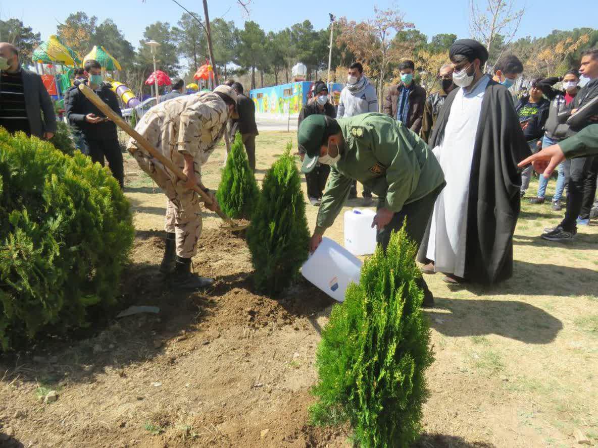 درختکاری در خمینی شهر