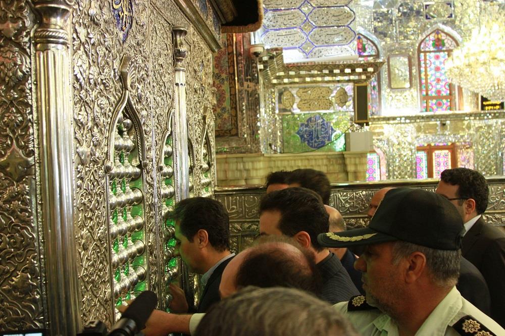 تجدید میثاق شهردار شیراز با حضرت شاه چراغ(ع)