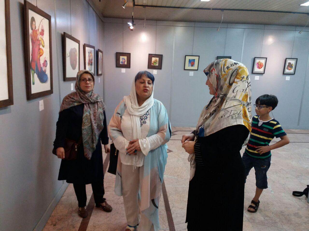 نمایشگاه تصویرسازی آمنه برزگر در رشت
