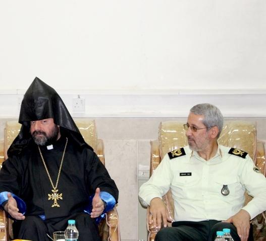 دیدار اسقف ارامنه با نیروی انتظامی