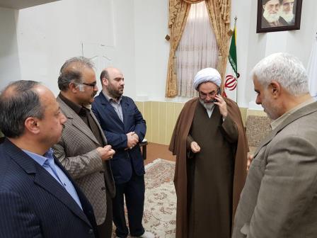 دیدار شهردار رشت و مدیران شهری با ایت الله فلاحتی