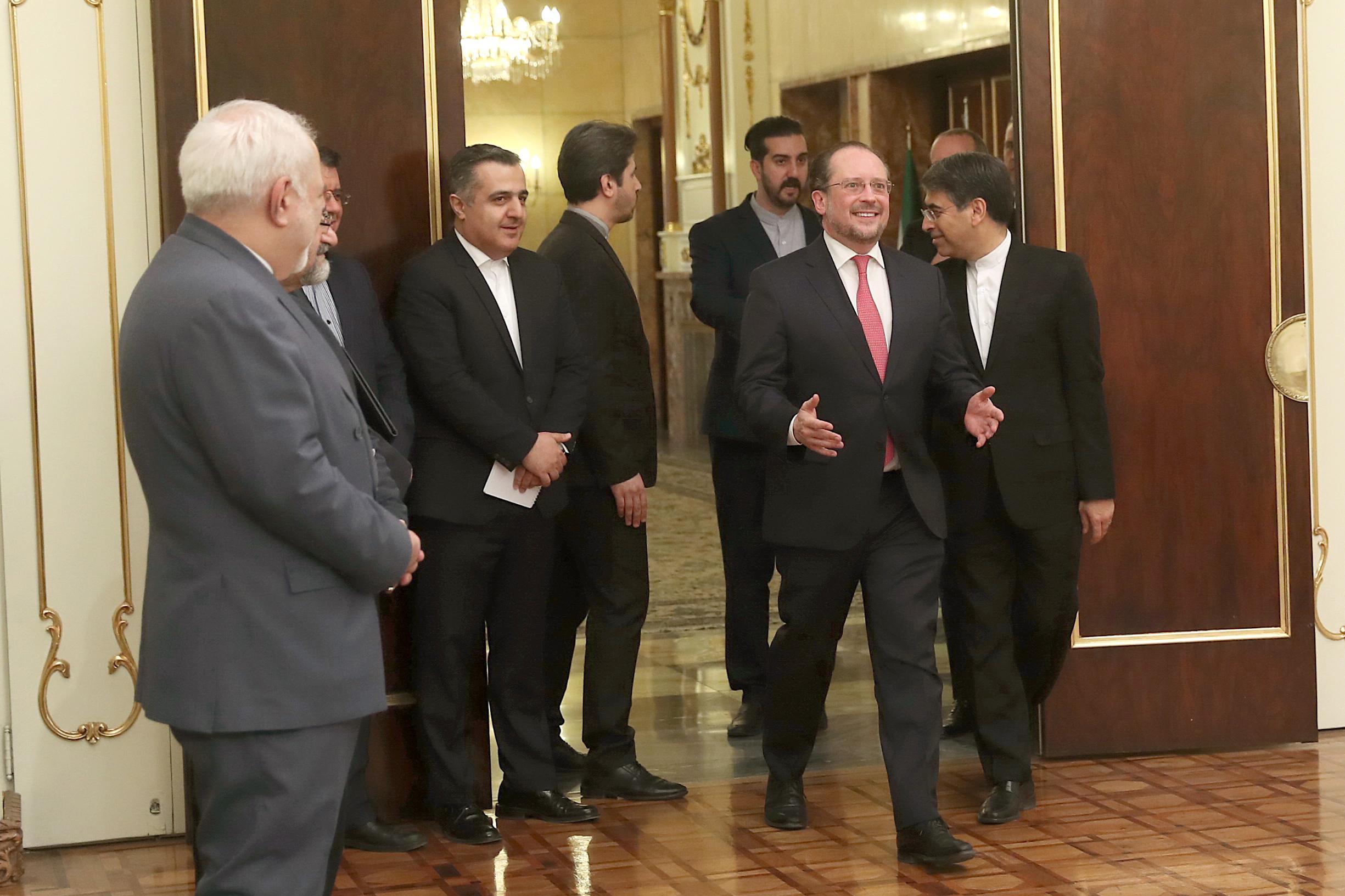 حسن روحانی با وزیر خارجه اتریش1