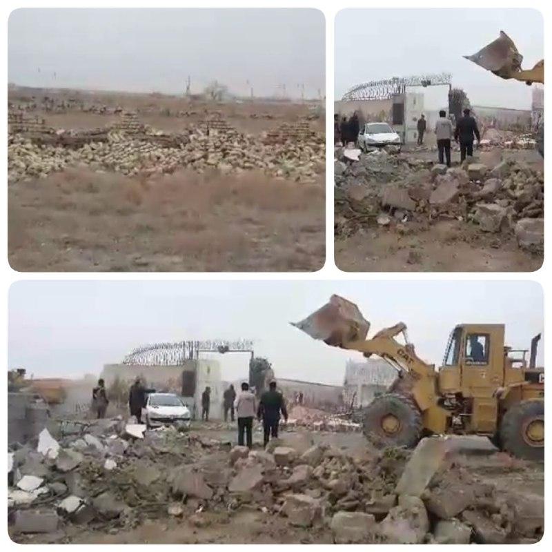 رفع تصرف اراضی حاشیه شهر مشهد