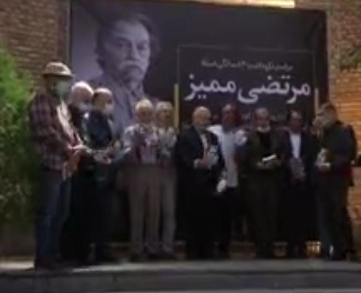 رونمایی از سردیس مرتضی ممیز در خانه هنرمندان ایران
