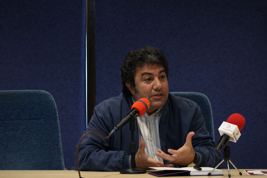 نادر برهانی مرند در آخرین روز از نشست آسیبشناسی جشنواره بینالمللی تئاتر فجر