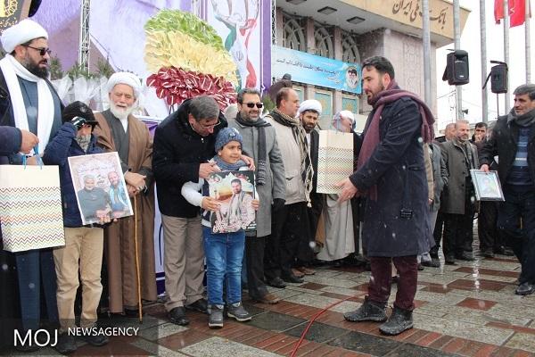 فرزند شهید در 22 بهمن همدان 98