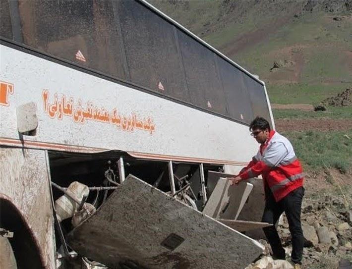اصفهان- تصادف اتوبوس