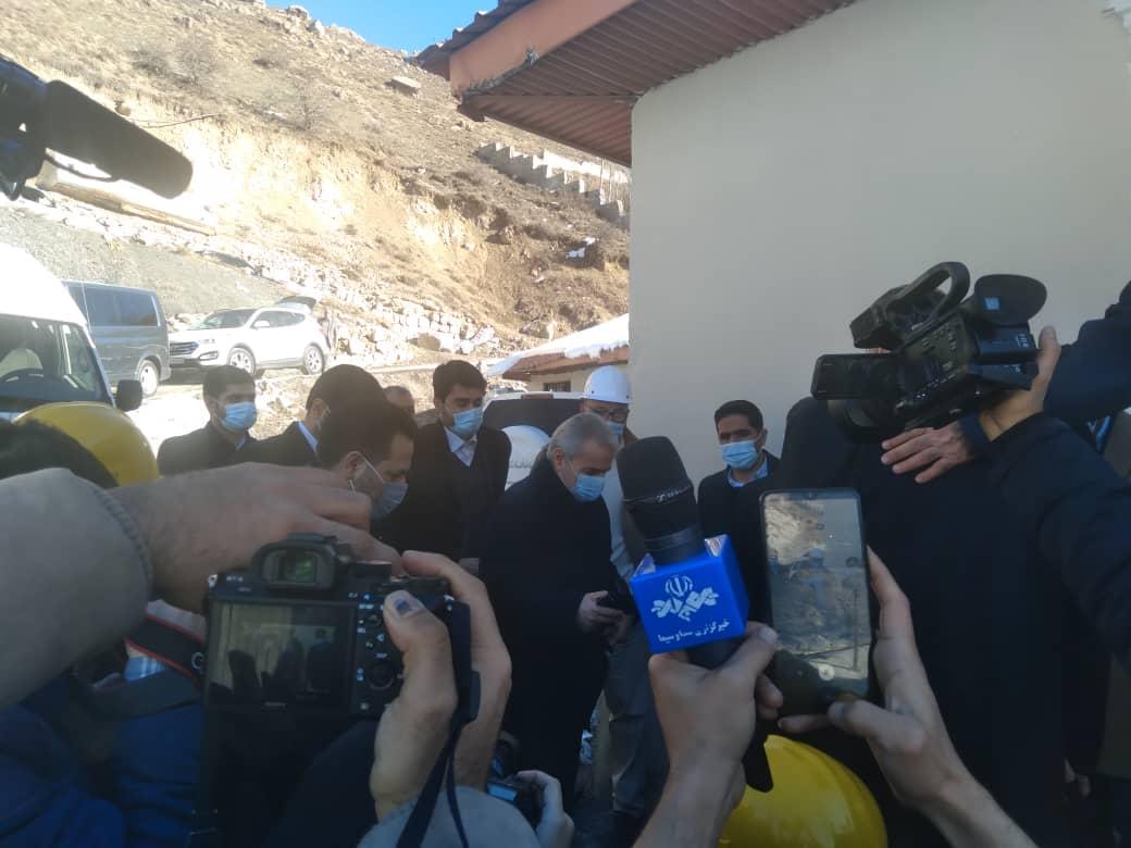 بازدید فتاح از آزادراه تهران شمال