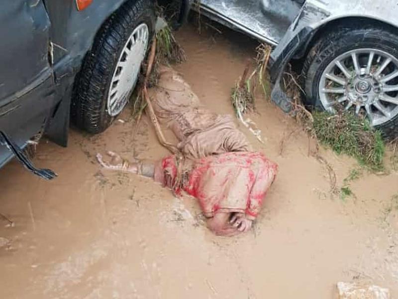 دختر غرق شده در سیل شیراز