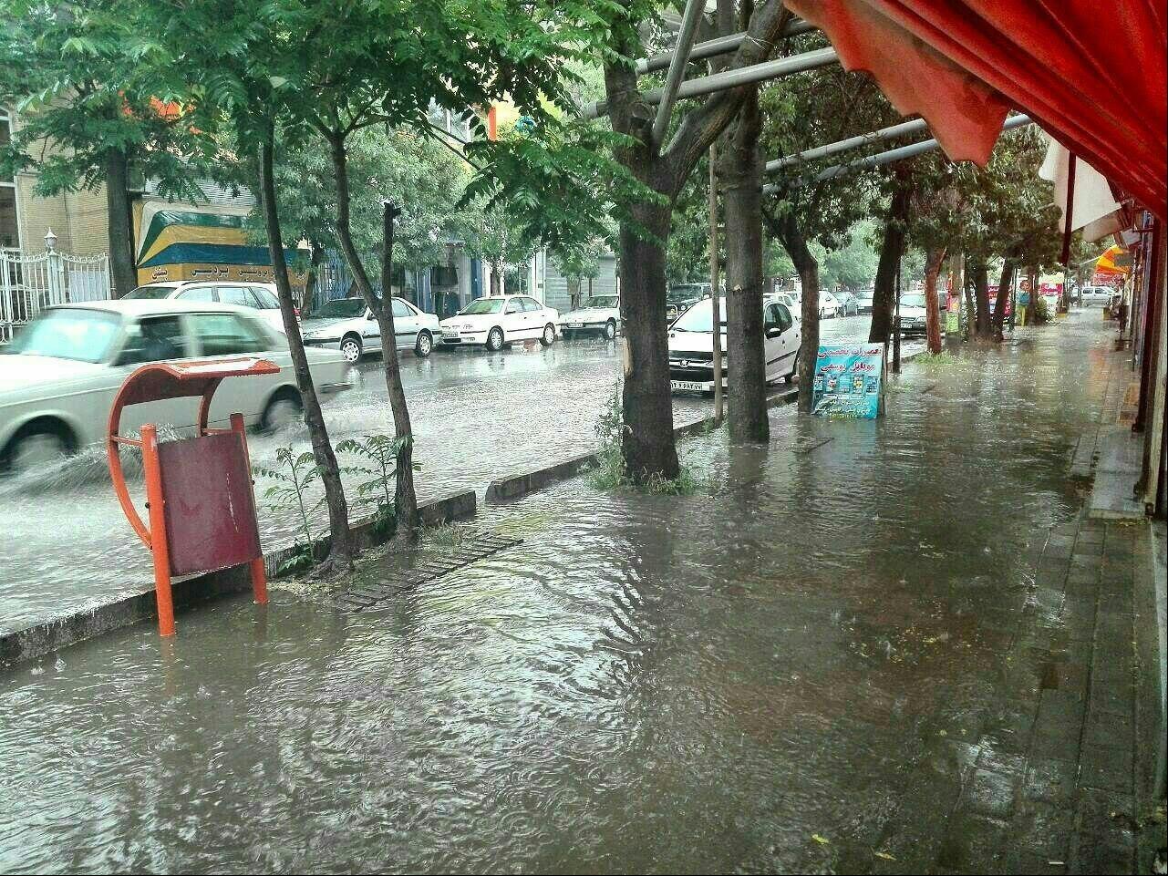 میزان بارش باران در شهرستان های خوزستان