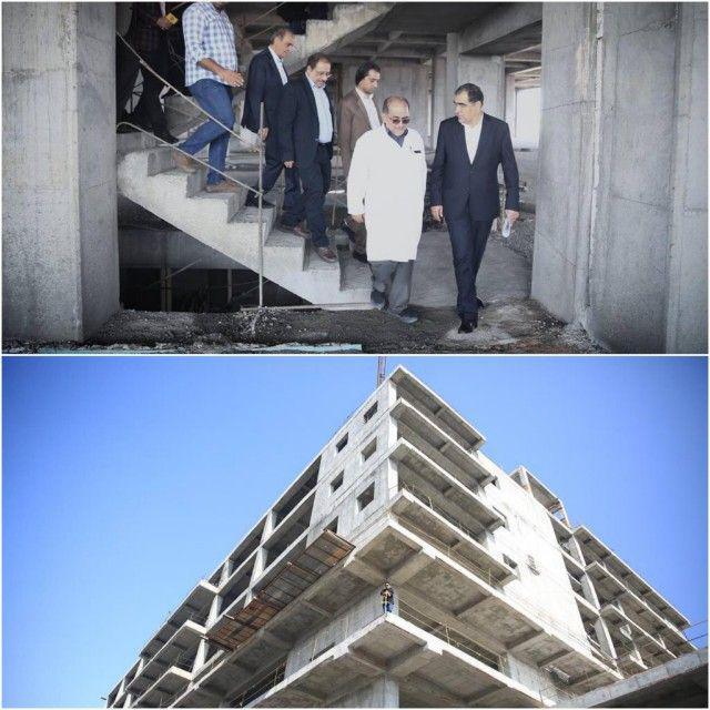 بازدید وزیر بهداشت از مرکز اموزشی امام حسین