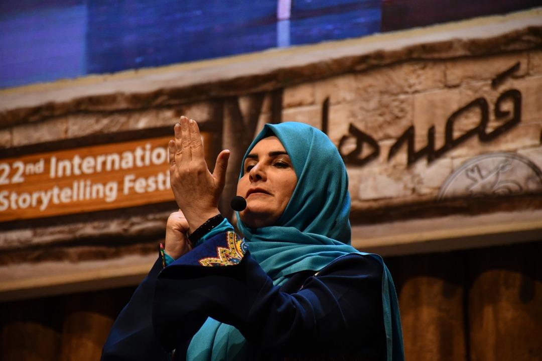 گیتی خامنه بیست و دومین جشنواره بینالمللی قصهگویی