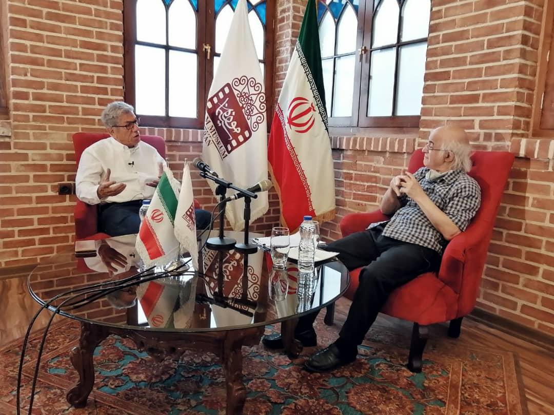 علیرضا زرین دست و فریدون جیرانی در موزه سینما
