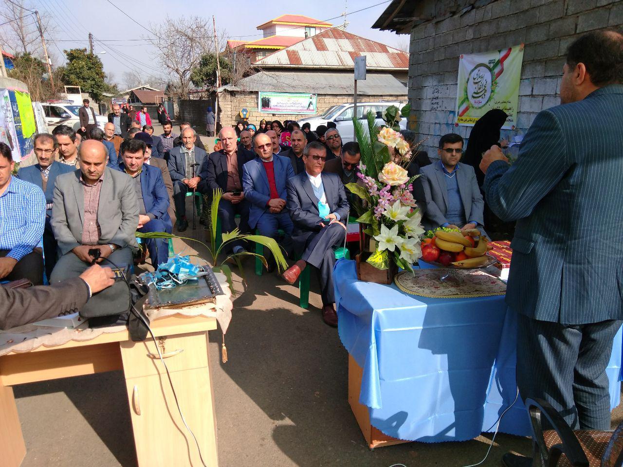 افتتاح پروژه عمرانی