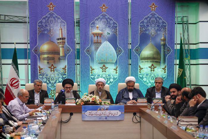 آیت الله سید علی اصغر دستغیب، تولیت آستان مقدس احمدی و محمدی(ع) در جلسه شورای هماهنگی بزرگداشت دهه کرامت استان فارس