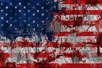پرچم آمریکا در واشنگتن به آتش کشیده شد