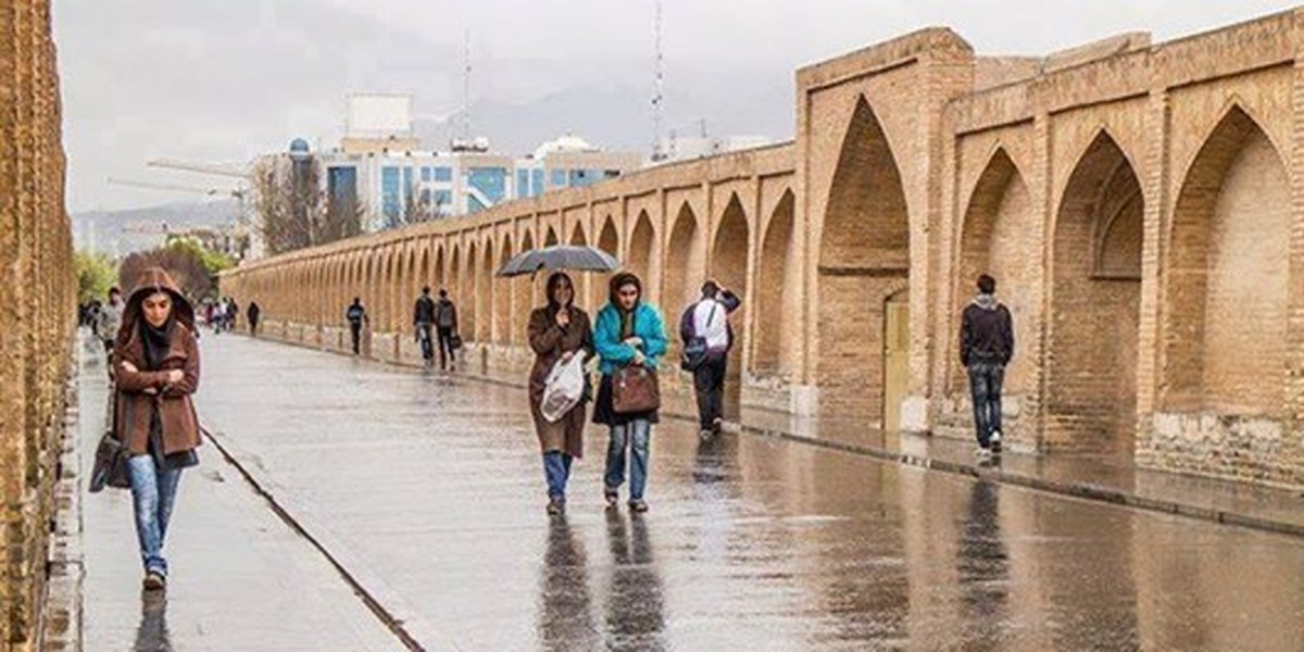 کاهش ۸ درجه ای دمای هوا در اصفهان / تداوم بارش ها