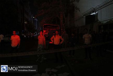 انفجار و آتشسوزی شدید ساختمان ۴ طبقه در خیابان فخر رازی