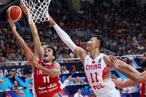 دیدار تدارکاتی بسکتبال ایران با چین