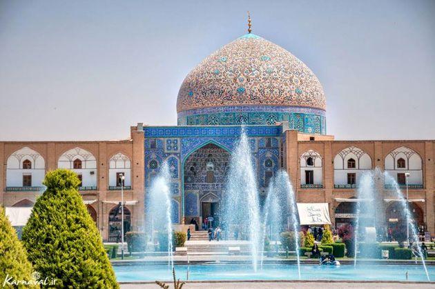 آغاز مرحله دوم مرمت گنبد مسجد شیخ لطف الله اصفهان