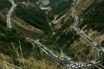 جاده چالوس به دلیل عملیات راهداری مسدود شد