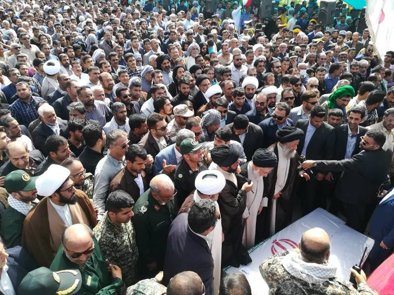پیکر پاک دو شهید بسیجی در شهر شیبان امروزتشییع شد
