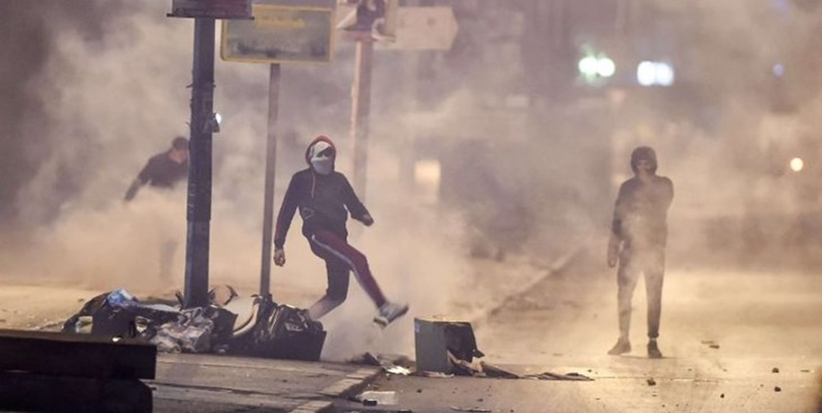 آشوب در تونس برای دومین شب متوالی