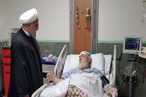 روحانی از حجتالاسلام شهیدی محلاتی عیادت کرد