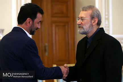 دیدار وزیر ورزش عراق با علی لاریجانی