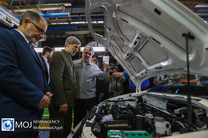 بازدید وزیر دفاع از  خط تولید خودرو سازی سایپا
