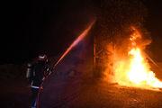 آتشسوزی انبار لوازم الکتریکی در قم مهار شد