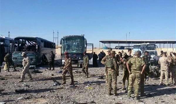 حادثه تروریستی اتوبوس حامل زائران ایرانی در عراق / 9 زائر ایرانی مجروح شدند