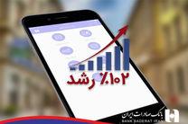 همراهان همراه بانک صادرات ایران ١٠٢ درصد بیشتر شدند