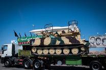 نمایش سامانههای موشکی«اس ۳۰۰» و «تلاش» در مراسم رژه نیروهای مسلح