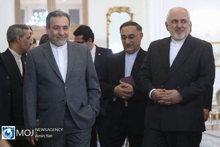 دیدار مسئول سیاست خارجی اتحادیه اروپا با محمدجواد ظریف