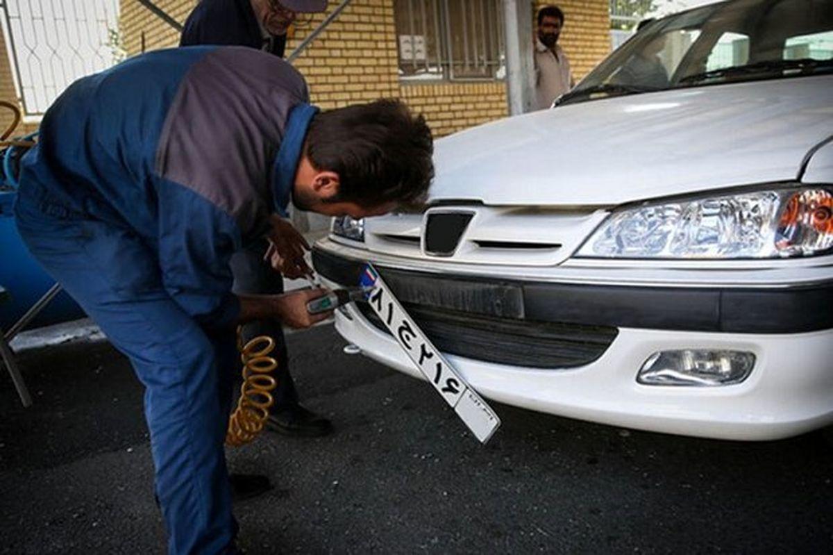 عملیات تعویض پلاک در شهرهای قرمز کرمانشاه انجام نمیشود