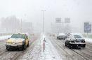انسداد جاده اسالم به خلخال به دلیل بارش سنگین برف