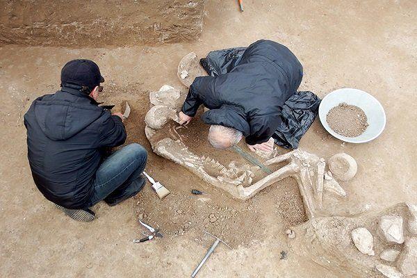 کشف گور مربوط به عصر آهن با قدمت سه هزار ساله در  دشت رستم آباد