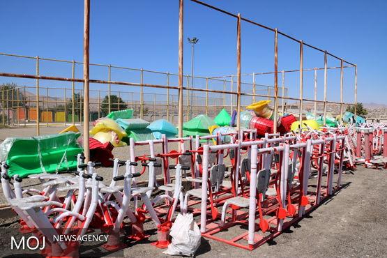 نصب 11 ست ورزشی و بازی کودکان در پارکهای سنندج
