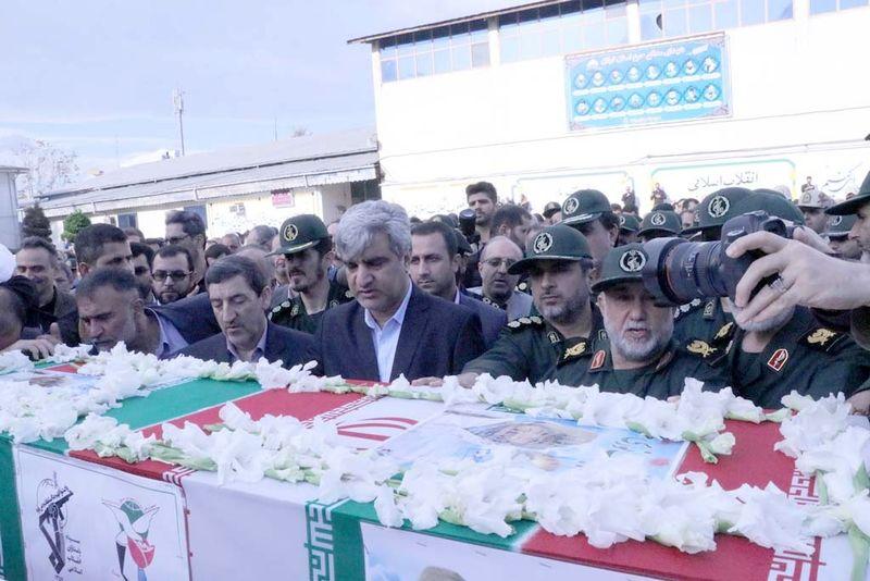 تشییع پیکر 2 شهید گیلانی مدافع حرم در رشت